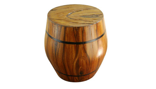 Fiberglass Barrel Stool